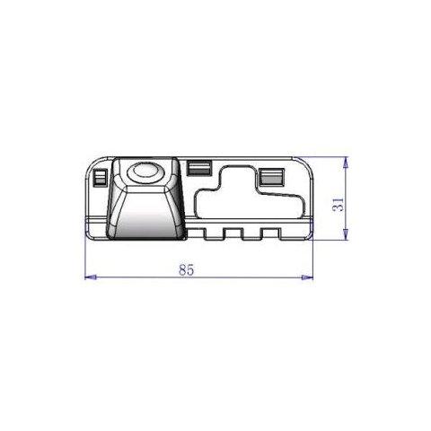 Автомобильная камера заднего вида для Honda Civic Превью 3