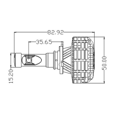 Набор светодиодного головного света UP-6HL (9005 (HB3), 3000 лм) Превью 3