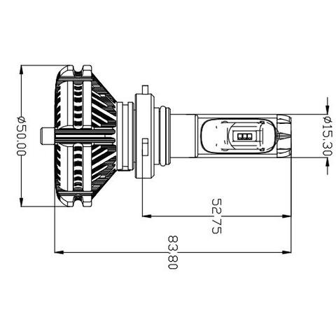 Набор светодиодного головного света UP-X3HL-9006W(HB4) (6000 лм) - Просмотр 2