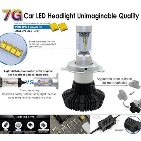 Набір світлодіодного головного світла UP-7HL-9007W-4000Lm (9007, 4000 лм, холодний білий) Прев'ю 2