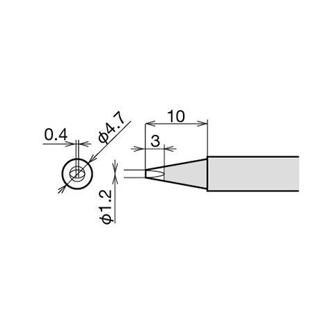 Soldering Iron Tip Goot RX-80HRT-1.2D Preview 1